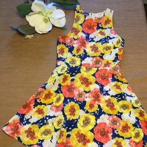 Everly Beautiful Floral Dress with Zipper Detail M